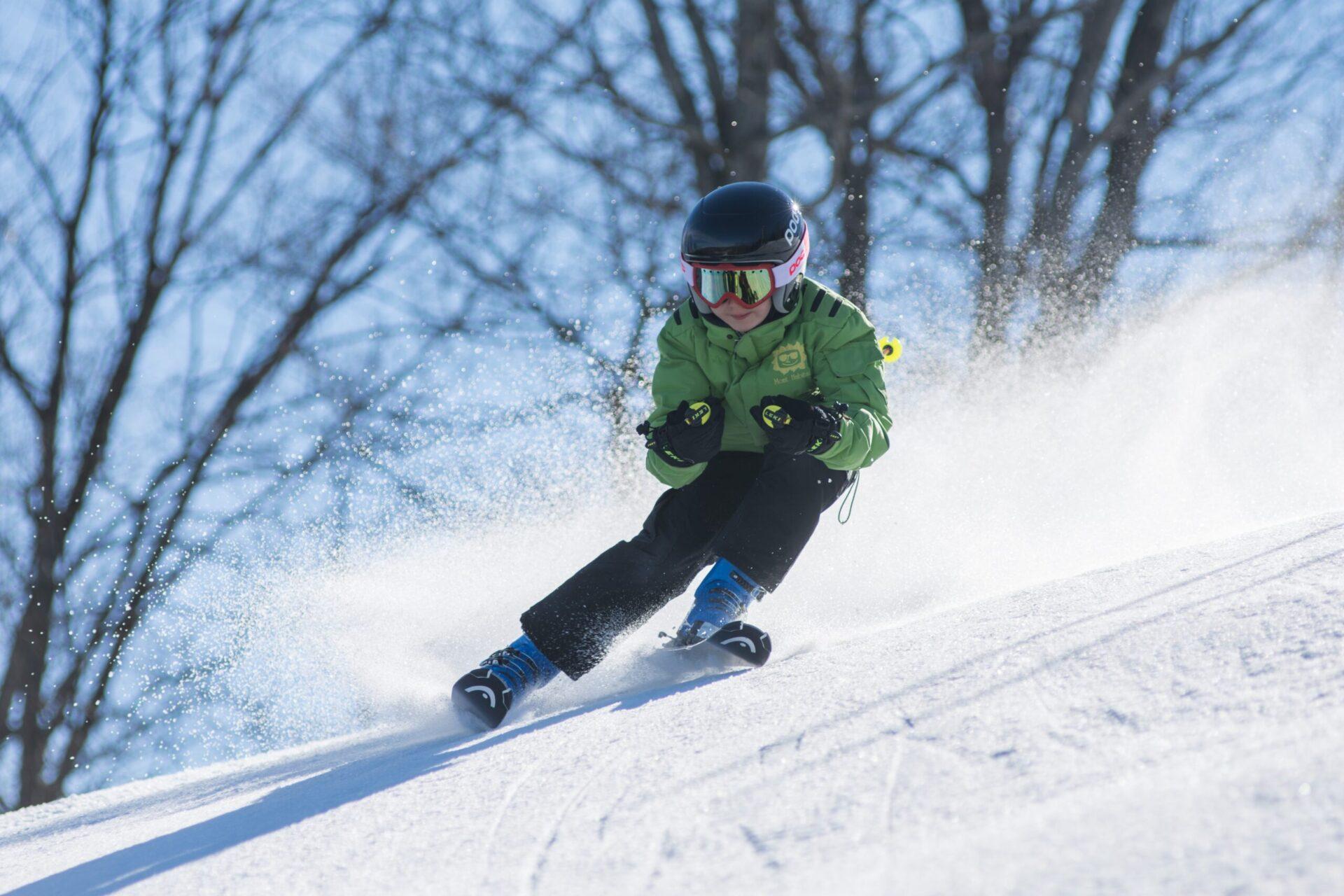 boy, ski, skiing